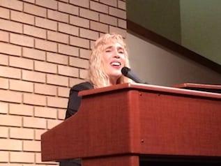 Cherie Brennan singing in church 1